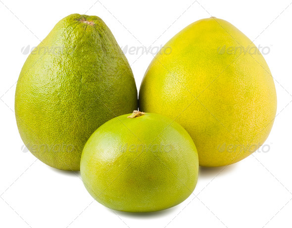 Three ripe pomelos - Stock Photo - Images