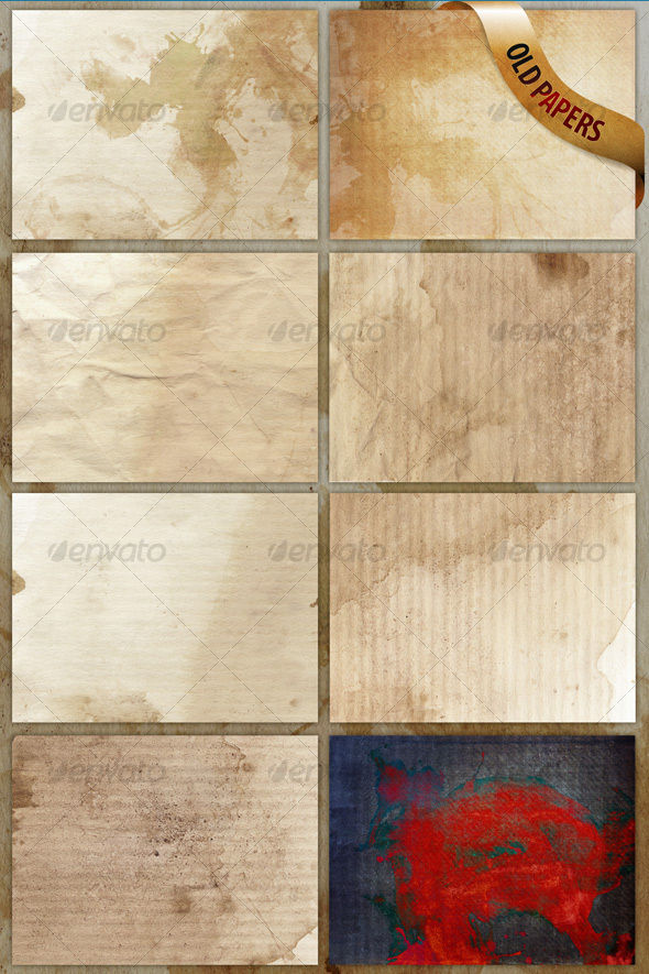 8 old paper textures/backgrounds - Paper Textures