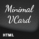 Minimal VCard - ThemeForest Item for Sale
