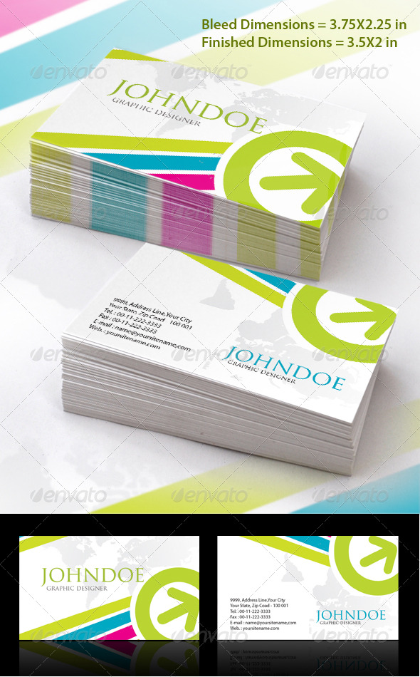 Marketing Stylish Business Card Set - Creative Business Cards
