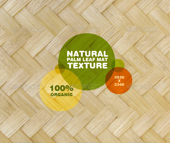 Natural Palm Leaf Mat Texture - Nature Textures