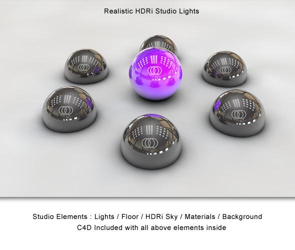 3DOcean Realistic HDRi Studio Lightning 1644669
