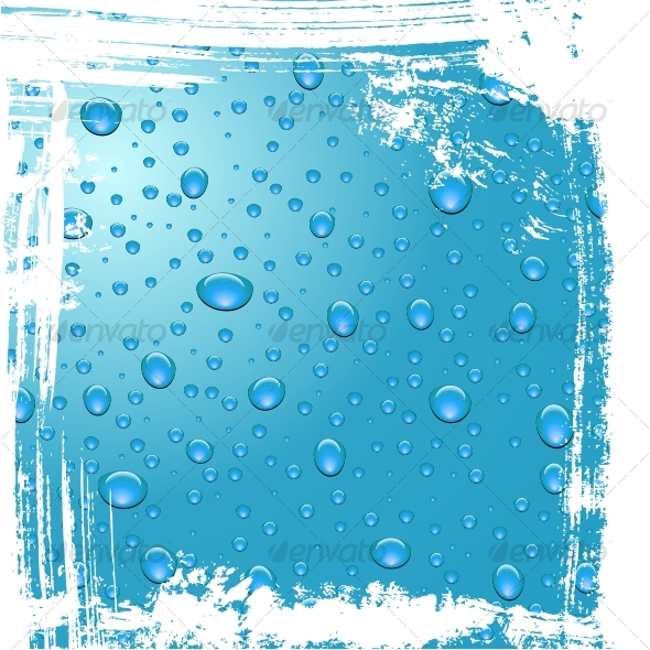 Drops of dew. Grunge background - Backgrounds Decorative