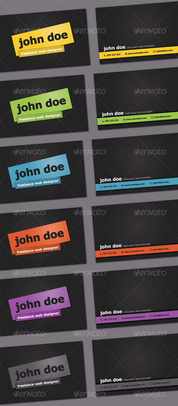 GraphicRiver Simple Dark Business Card 51667