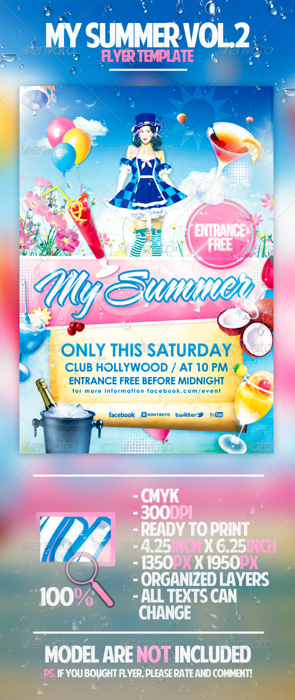 My Summer Vol.2 Flyer Template - Clubs & Parties Events