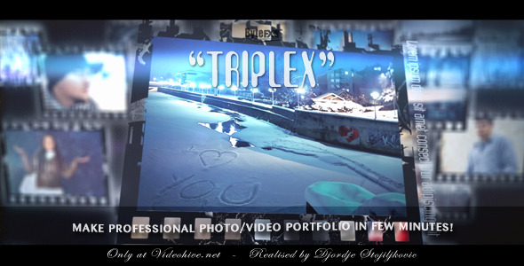 After Effects Project - VideoHive Triplex Photo Video Portfolio 1614049