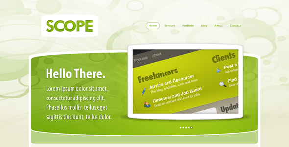 ThemeForest Scope PSD Template 64365