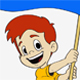 Boy waving flag - GraphicRiver Item for Sale