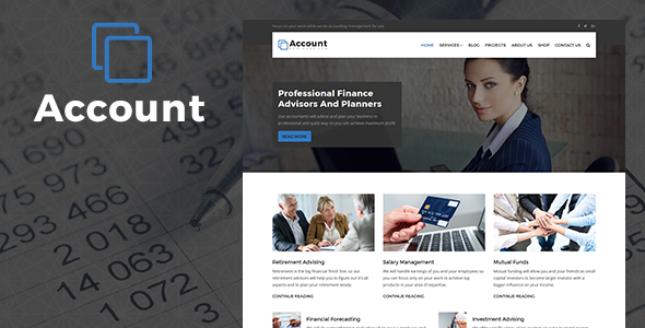 Account Accountant And Finance Business Wp Theme By