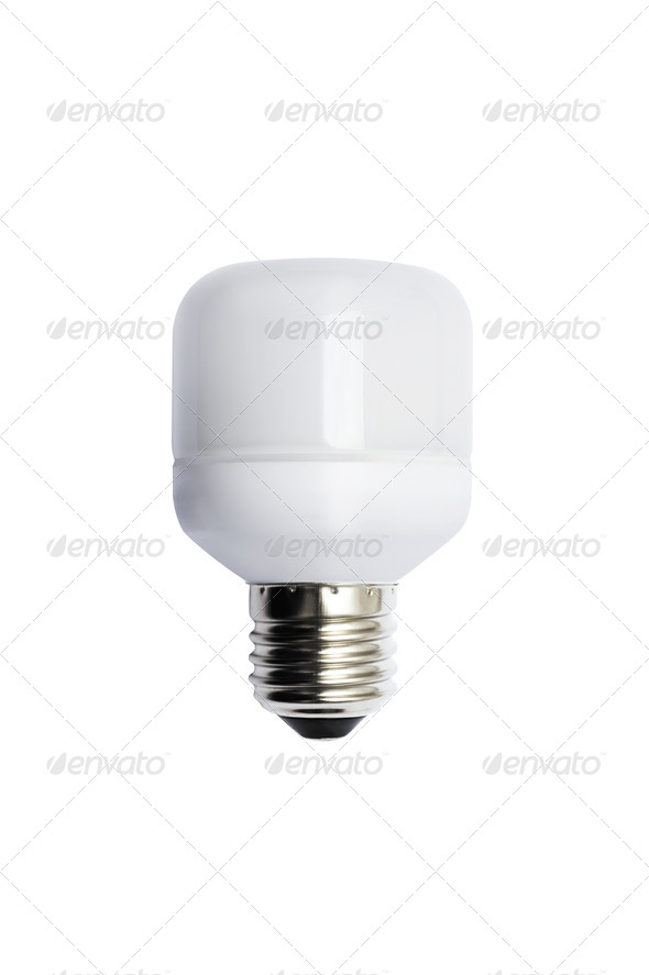 Energy saving bulb. Isolated image. - Stock Photo - Images
