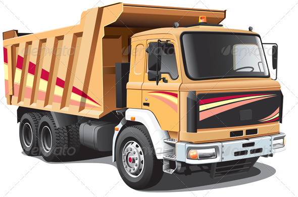 Dump Truck - Objects Vectors
