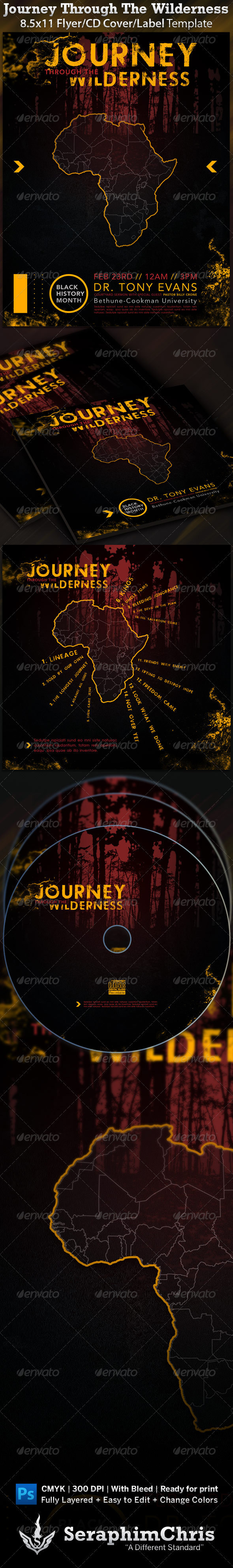 Journey Through The Wilderness Flyer and CD - Clubs & Parties Events