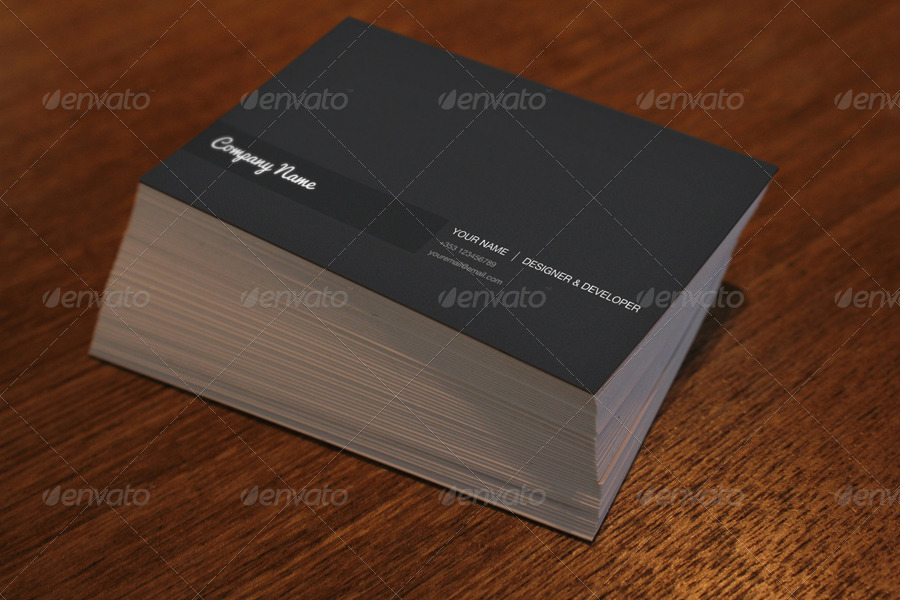 10 Photo Realistic Business Card Mockups