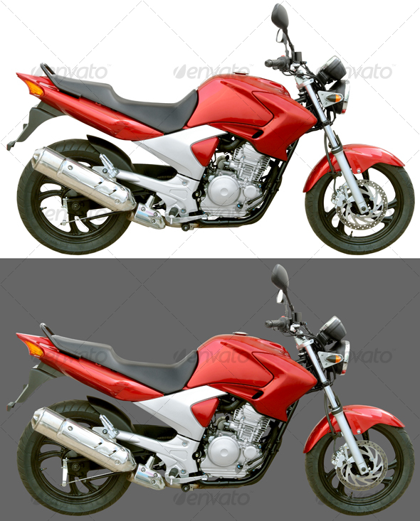Street Motorcycle 250cc - Technology Isolated Objects