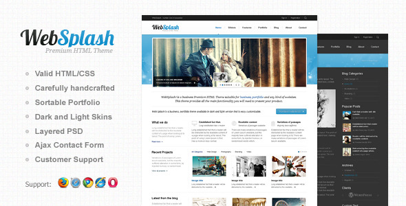 Web Splash - Premium HTML Template
