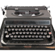 Antique typewriter front view - GraphicRiver Item for Sale