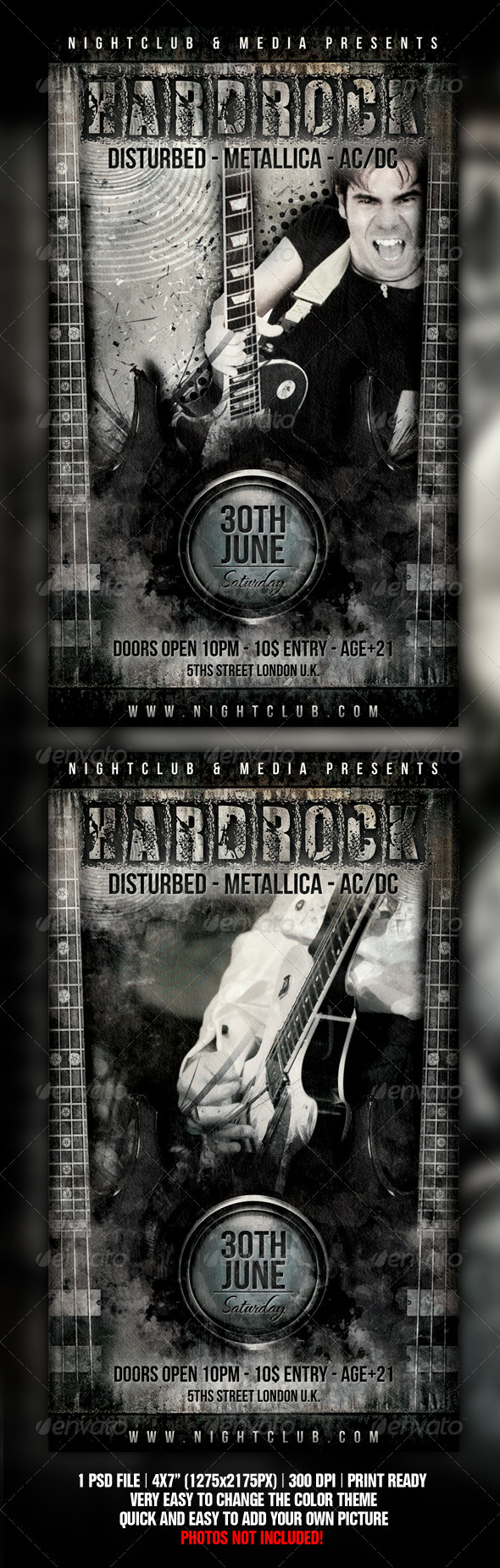GraphicRiver Hard Rock Flyer Design 1298624