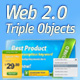 Web 2.0 Triple Objects - GraphicRiver Item for Sale