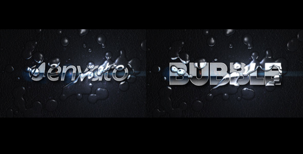 After Effects Project - VideoHive Bubble Logo And Text Project 194771