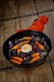 Prepared Root Vegetables in a Cast Iron Skillet - PhotoDune Item for Sale