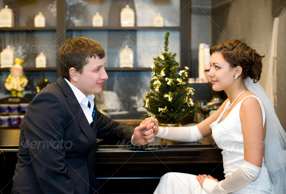 bride and bridegroom - Stock Photo - Images
