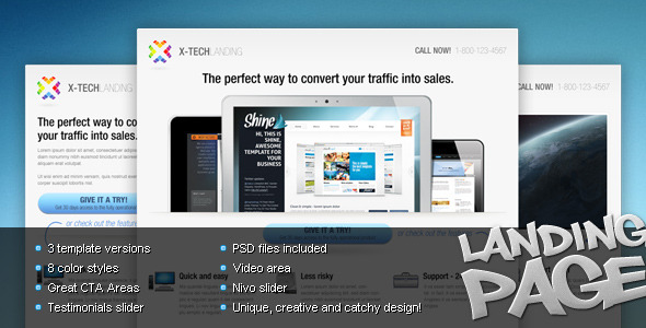 X-Tech Landing Page - Landing Pages Marketing