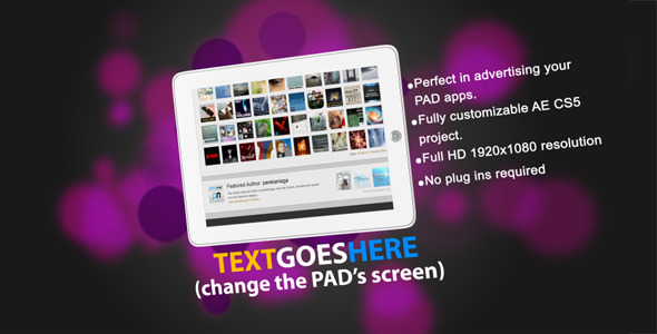 After Effects Project - VideoHive Apps Apps and Away for Pad 1625615