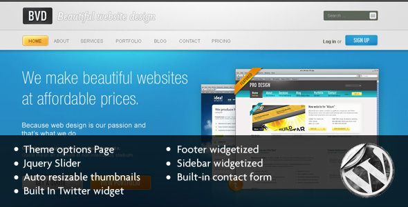 BVD-Beautiful Website Design-Wordpress