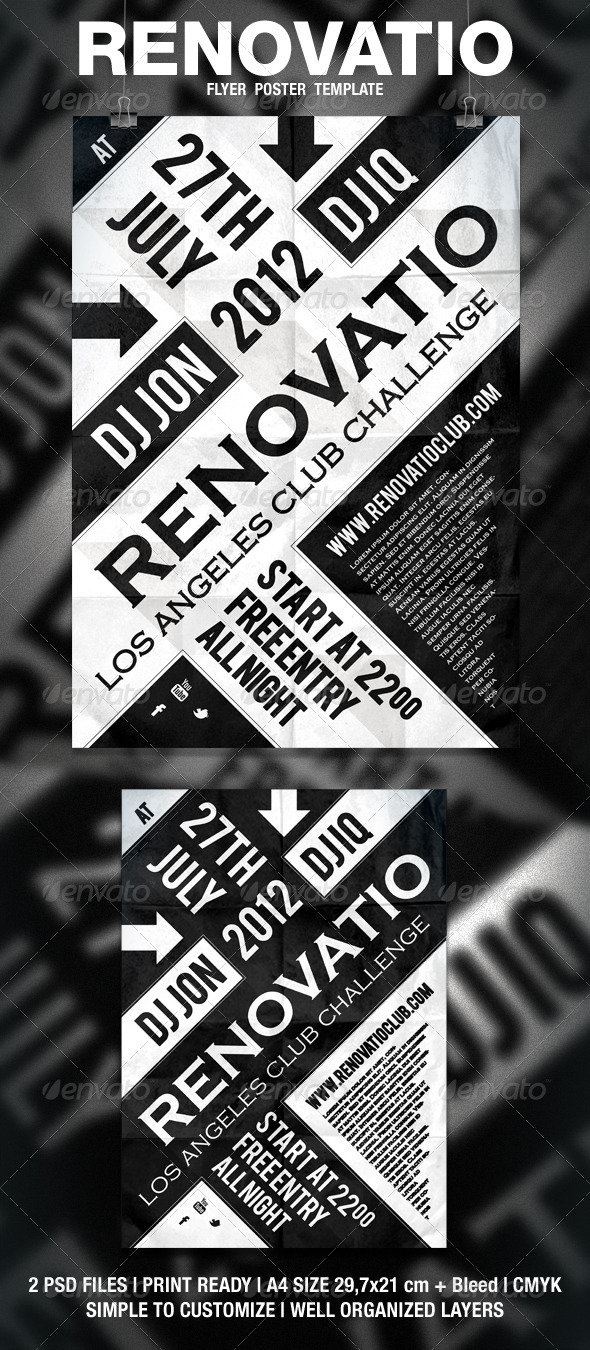 GraphicRiver Renovatio Typography Flyer Poster 1662934