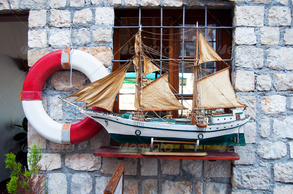 Model of sailing ship - Stock Photo - Images