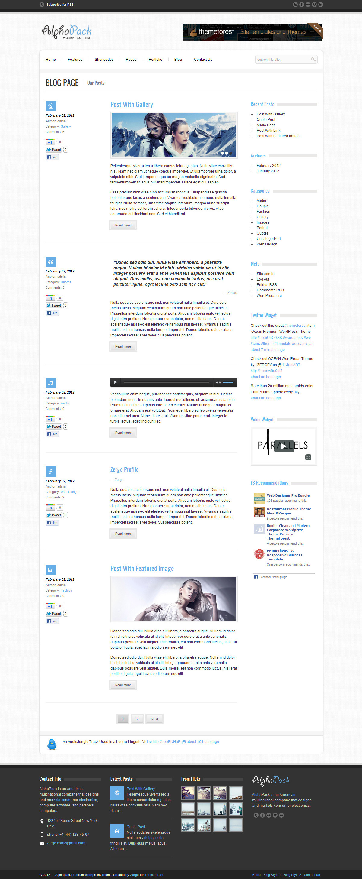 Alphapack - Premium WordPress Theme - Blog 2