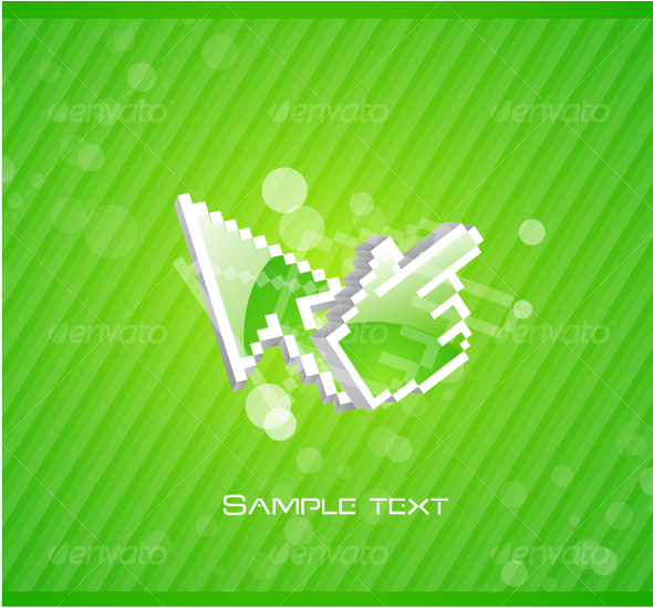 Abstract background with mouse pointers - Web Technology