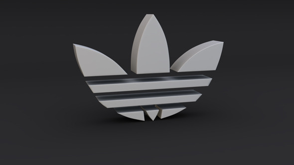 Adidas Logo Model - 3DOcean Item for Sale