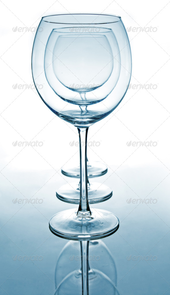 Several glasses for wine - Stock Photo - Images