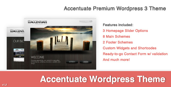 Accentuate Premium Wordpress 3 Theme