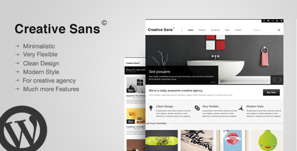 CreativeSans - Agency WP Theme - intro