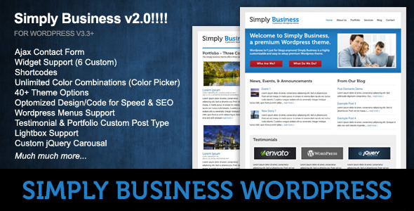 ThemeForest Simply Business Wordpress 88617