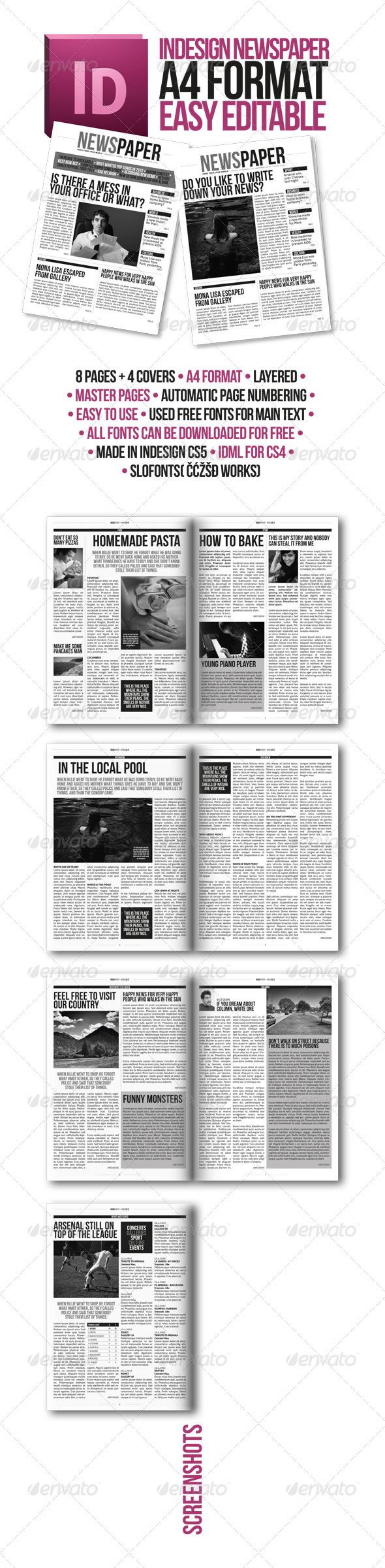 Free Editable Newspaper Template Kenindlecomfortzone