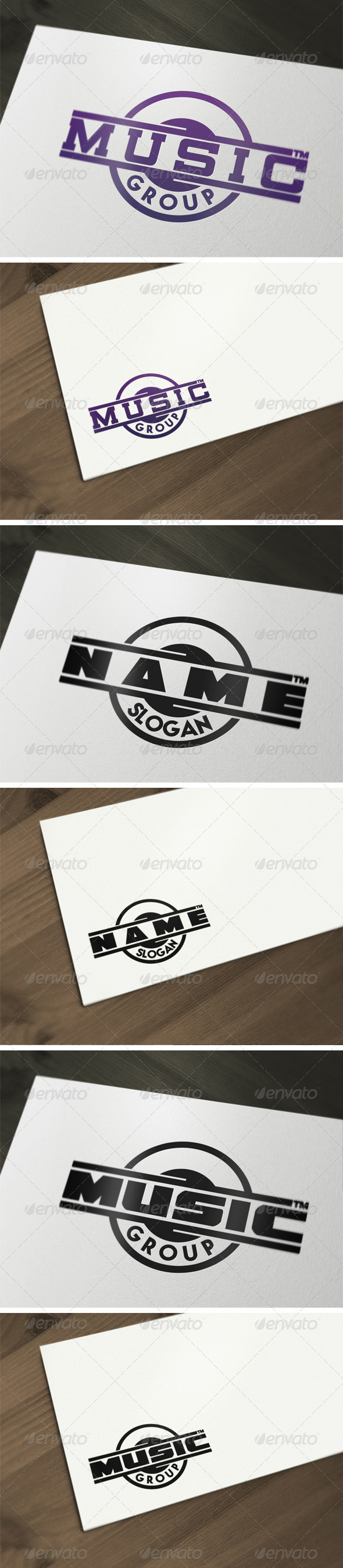 Music Group Logo Template V2 - Vector Abstract