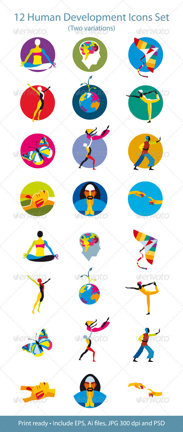 Human Development Icons Set - Health/Medicine Conceptual