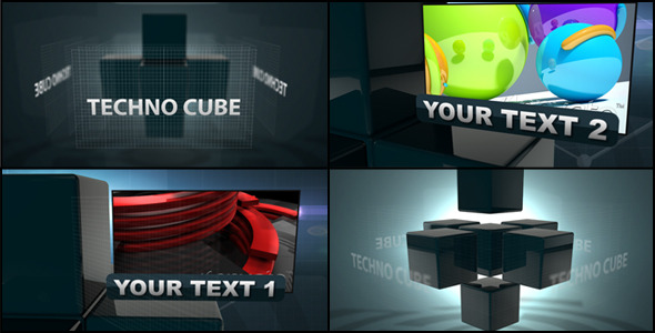 After Effects Project - VideoHive Techno Cube 1590180