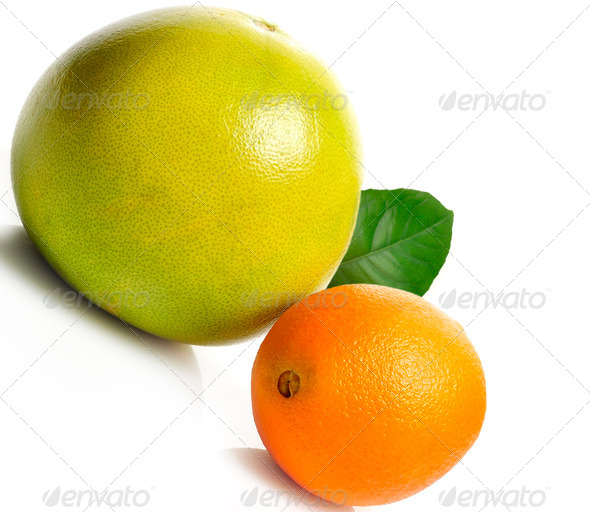 Orange And Pamelo Fruits - Stock Photo - Images
