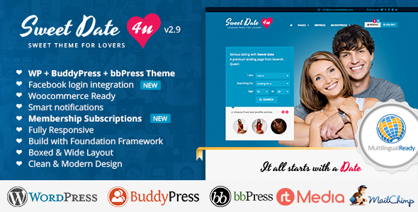 free dating site themes Our top collection of wordpress dating themes & plugins learn how to build a wordpress dating site without coding knowledge with the help of dating themes.
