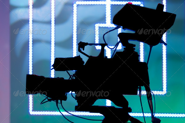 professional television camera - Stock Photo - Images