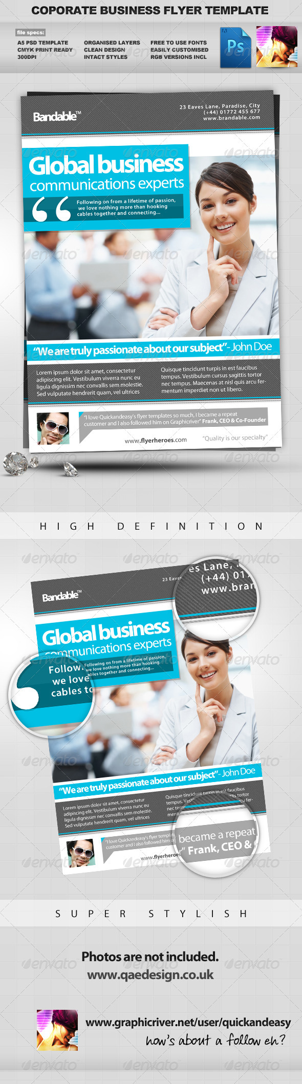 Corporate / Business PSD Flyer Template - Corporate Flyers