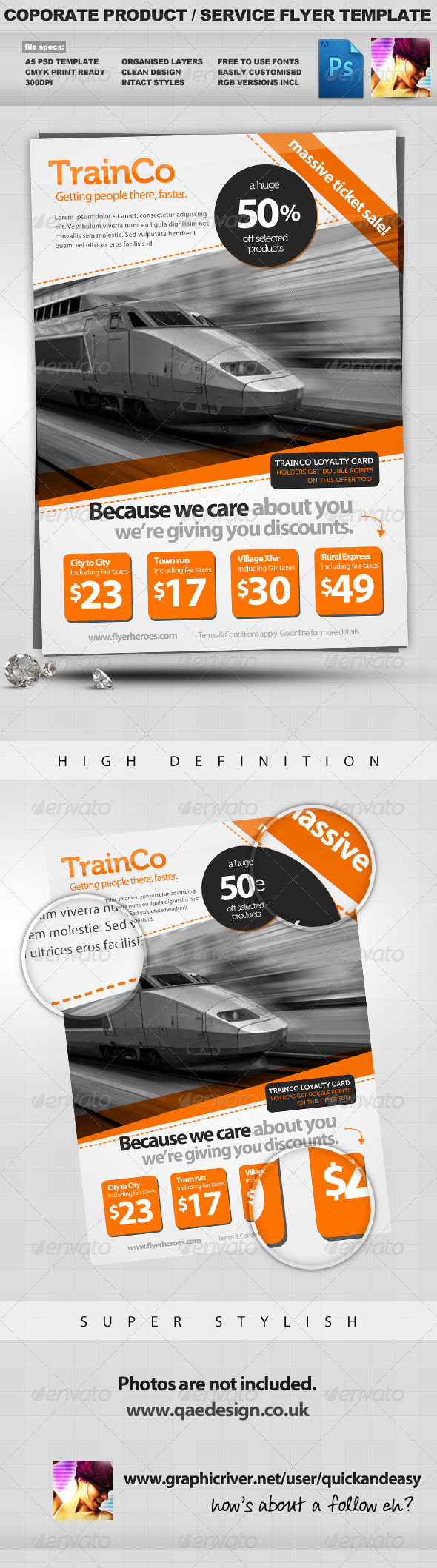 GraphicRiver Corporate Product Service PSD Flyer Template 1679682