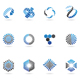 blue arrow icons - GraphicRiver Item for Sale