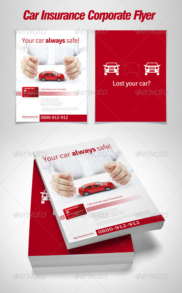 GraphicRiver Car Insurance Corporate Flyer 1679938