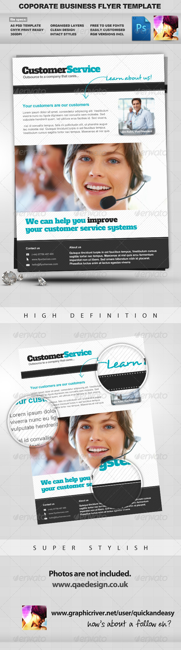Corporate / Business PSD Flyer Template Vol. 2 - Corporate Flyers