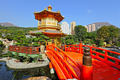 gold pavilion in chinese garden - PhotoDune Item for Sale
